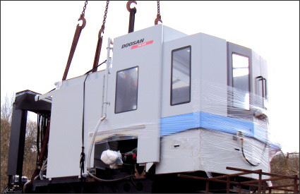 Taking delivery of a new Doosan HM 630 Heavy Duty CNC Machining Centre in March 2010