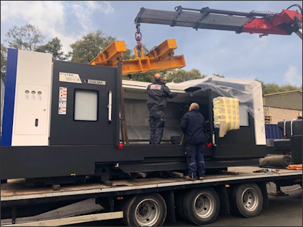Taking delivery of a new Hyundai-Wia L500LMA CNC Turning Centre in 2019